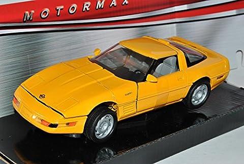 Chevrolet Chevy Corvette C4 ZR-1 Coupe Gelb 1983-1996 1/24 Motormax Modell Auto
