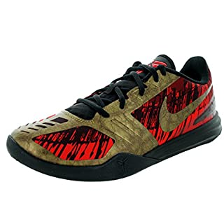 NIKE Men's Kb Mentality Basketball Shoe (12 D(M) US, Blk/MTLC AGD Cn/Chillng Rd/Tm R)