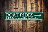 Yilooom Boat Rides Schild, personalisiertes Seeschild, Angelgeschichten, Lebensunterricht,...
