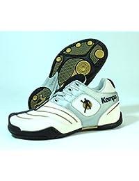 Kempa–Zapatillas de balonmano para Tournament Kage SL Jr Niño Zapatillas de balonmano Blanco de oro EU 33