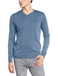 Teddy Smith Pulser - Pull - Uni - Col V - Manches longues - Homme