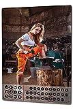 Dauer Wand Kalender Sexy Girl Werkstatt Metall Magnet