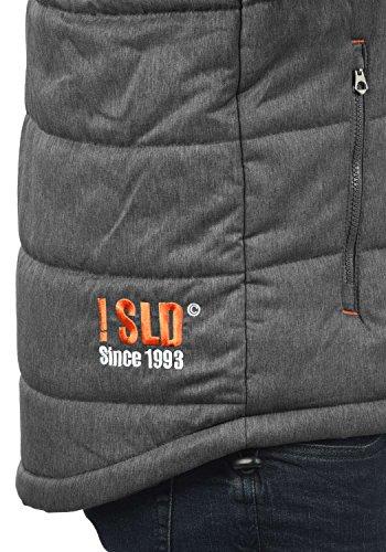 SOLID Bendix Herren Winterjacke Jacke mit Kapuze aus hochwertiger Materialqualität Grey Melange (8236)