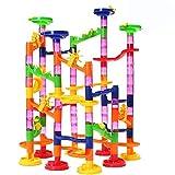 Limiwulw Murmelbahn Konstruktionsbausteine Eisenbahn Spielzeug Bausteine Set für Jungen und Mädchen ab 3 Jahre 105 Teile