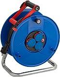 Brennenstuhl Garant IP44 Gewerbe-/Baustellen-Kabeltrommel (40m - Spezialkunststoff, ständiger Einsatz im Außenbereich, Made In Germany) blau