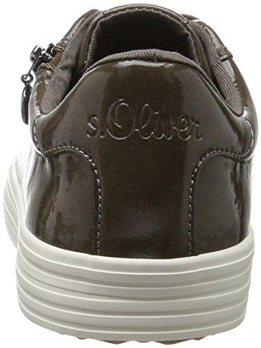 s.Oliver 23611, Scarpe da Ginnastica Basse Donna Marrone (Mud Patent)