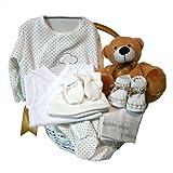 Canastilla regalo bebe - Primera Puesta Optima beige - Cesta recién nacido hospital
