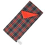 E-TING Schlafsack Weihnachts Accessoire für Elfen Puppe (Rot - Blau Karierten) Puppe ist Nicht Enthalten