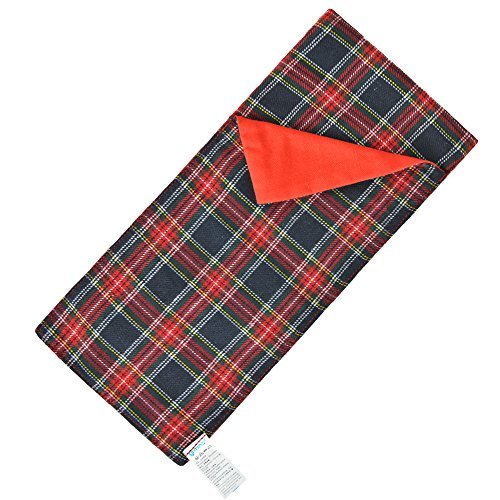 E-TING Sleeping Bag Christmas Accessory fit Elf Doll (Red-Blue Plaid) Doll is not included