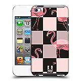 Head Case Designs Flamingo Schwarz und Pink Ruckseite Hülle für Apple iPod Touch 4G 4th Gen