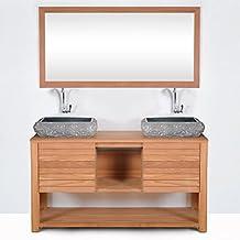 Meuble salle de bains double vasque 120 - Meuble salle de bain amazon ...