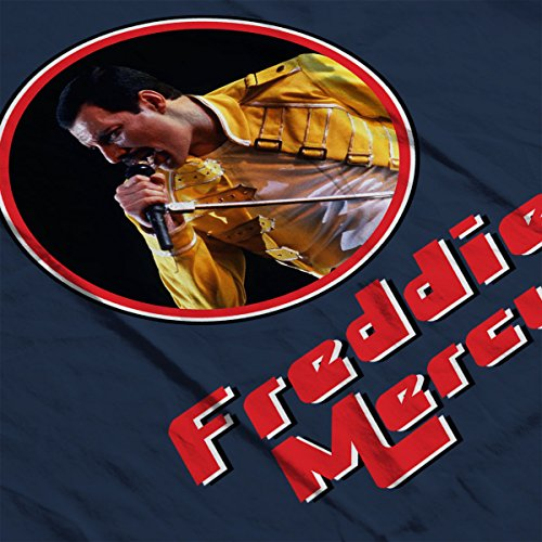 Freddie Mercury Retro Photo Frame Men's T-Shirt Navy Blue