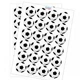 48 runde Fussball Sticker - Aufkleber - Etiketten für Fussball Geburtstag Jungen Geschenk Verpackung WM