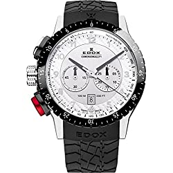 EDOX EDOX RALLY INSTRUMENTS CHRONORALLY 1 10305 3NR AN - Reloj unisex, correa de goma color negro