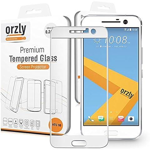 Orzly® - 2.5D Pro-Fit Protector de Pantalla de Prima de Cristal Templado para HTC 10 (2016 Modelo SmartPhone / Teléfono Móvil) - TRANSPARENTE (Borde