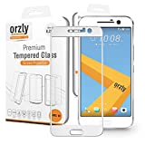 Orzly® - 2.5D Pro-Fit Glasdisplayschutzfolie für das HTC 10 (2016 Model) – Schutzfolie / Panzerglas mit abgerundeten Ecken für die perfekte Abdeckung des Display's vom einem bis zum anderen Rand - Transparent (mit Weissen Rim)