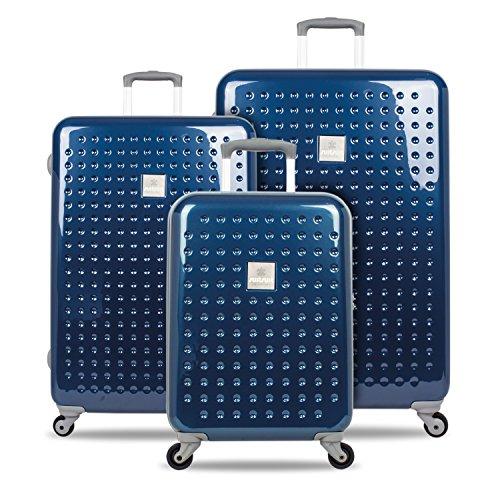 SUITSUIT léger Spinner valises Matrix Denim Bleu sarcelle – Lot de 3 cases 20, 24, 71,1 cm – Plus Beau Perry Sac pour la vie