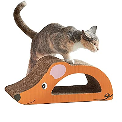 Milo & Misty Mouse Cat & Kitten Scratching Board Toy with Free Catnip
