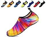 adituob Frauen Casual Barfuß Schnell Trocken Wasser Schuhe für Beach Pool Surfen Yoga Uns 9.5-10.5 Frauen, 8.5-9 Männer Bunte 40-41