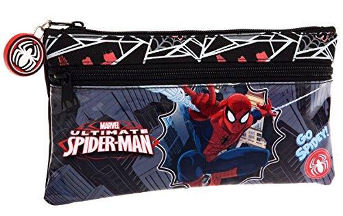 Spiderman-Estuche escolar compartimentos Go Spidey agenda 2015, diseño de Spiderman