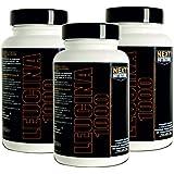 3 paquets Next Nutrition Les acides aminés leucine suppléments naturels - 90 comprimés 1000 mg de leucine par comprimé Un total de 270 comprimés