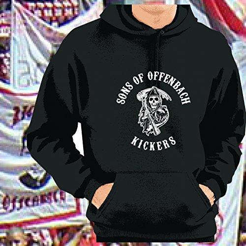 World of Football Kapuzenpulli Sons of Offenbach Kickers schwarz - XXL