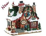 Lemax 75292 - The Claus Cottage - Weihnachtshütte - NEU 2018 - Santas Wonderland - Beleuchtetes LED Porzellan Haus/Weihnachtshaus - Dekoration/Weihnachtsdeko - Weihnachtswelt/Weihnachtsdorf