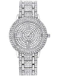 Reloj mujer relojes para mujer del Rhinestone de cuarzo analógico relojes de pulsera Zeiger W193 Conjunto