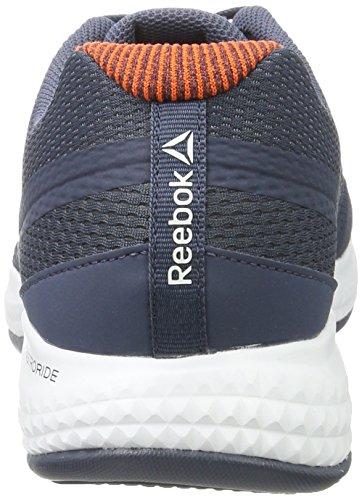 Reebok Herren Astroride Duo Edge Laufschuhe Blau (Smoky Indigo / Energy Orange / White / Alloy)