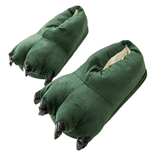 AIZHEAnimal Slippers - Pantofole donna uomo Green