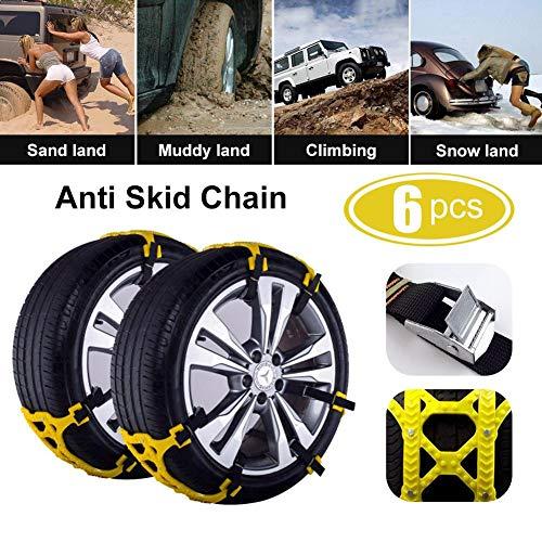 6PCS-Universal-Vehicle-Anti-Skid-Catena-TPU-e-Acciaio-Chiodi-Materiale-Antiscivolo-Resistenza-allabrasione-Auto-Catena-da-Neve