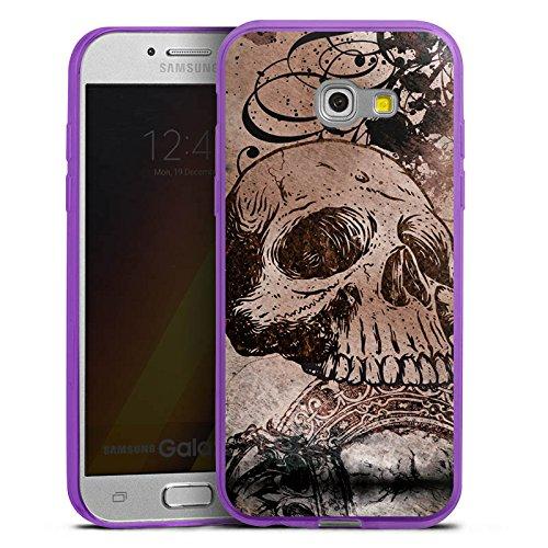 (DeinDesign Slim Case kompatibel mit Samsung Galaxy A3 Duos 2017 Silikon Hülle Ultra Dünn Schutzhülle Halloween Totenkopf Skull)