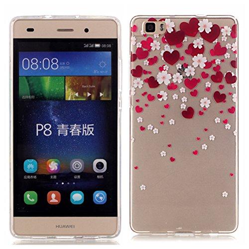 Huawei P8 Lite Case Silicone, Anfire P8 Lite TPU Caso