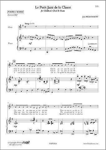 PARTITION CLASSIQUE - Le Petit Jazz de la Classe -