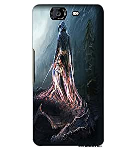 MICROMAX A350 CANVAS KNIGHT WARRIOR Back Cover by PRINTSWAG