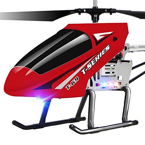Ycco Große 85CM RC Flugzeuge, Alloy-Fernbedienung Hubschrauber eingebaute Gyro und LED-Licht 3.5-Channel Flugzeuge Spielzeug mit Altitude Halten Innen zusätzliche Stabilität Flugzeug for Kinder Erwach