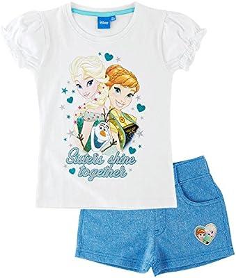 Disney El reino del hielo Chicas Camiseta y short - Blanco