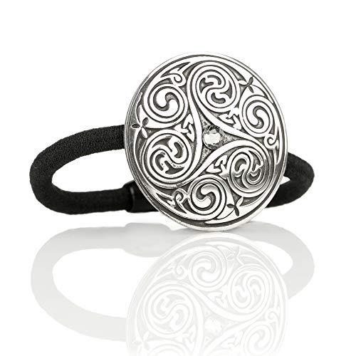 Celtic Crystal Swirls - Haargummi aus England mit Kristall & keltischem Muster Highland Swirl