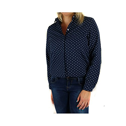 No Name Chemise Femme Coton Motifs coeurs- Bleu Marine