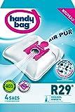 Handy Bag - R29 - 4 Sacs Aspirateurs, pour Aspirateurs Moulinex et Rowenta, Fermeture Hermétique, Filtre Anti-Allergène, Filtre Moteur
