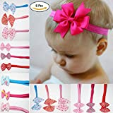 Best Hair Bows - Fok Set Of 6 Bow Elastic Multi Color Review