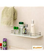Klaxon Front Glass Shelf - 15 * 6 Inches - White