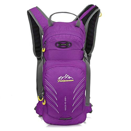 borsa a tracolla a cavallo Outdoor / sacchetto della bicicletta / borsa sportiva alpinismo / bag ultraleggero-viola 15L viola