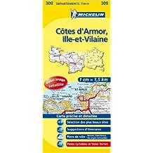 Carte DPARTEMENTS Ctes Armor, Ille-et-Vilaine de Collectif Michelin ( 12 mars 2008 )