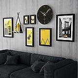 YIFNJCG Foto Wand Wohnzimmer Schlafzimmer Hintergrund Wand Bilderrahmen Kreative Anhänger Uhr Kombination Wand Dekoration