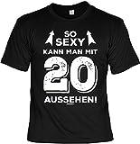 Mega-Shirt Geschenk Zum 20 Geburtstag 20 Jahre Geburtstagsgeschenk T-Shirt So Kann Man mit 20 Aussehen! Cooles T-Shirt Zum 20. Geburtstag 20-Jähriger