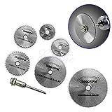 TShopm für Dremel Cutoff Kreissäge HSS Rotary Blade Werkzeug Trennscheiben Dorn 6 Stück