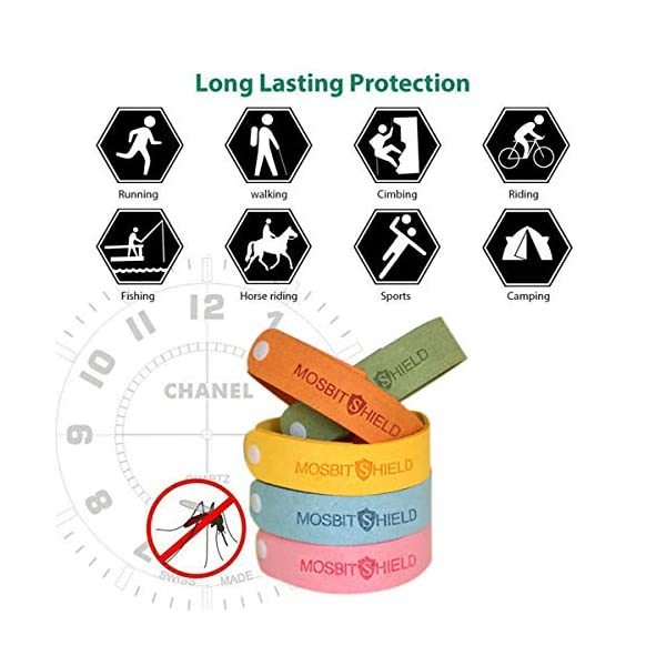 DREAMWIN Pulsera Repelente de Mosquitos, 15pcs Pulseras Antimosquitos, Actividades al Aire Libre y Bandas para Hacer Deportes, Materias Naturales, Ajustables para Adultos y Niños 7