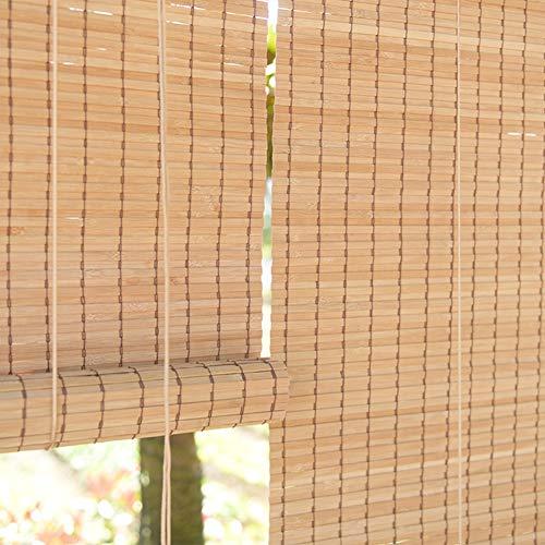 Persiana de bambú Persianas Enrollables para Exteriores De Gazebo para Patio De Jardín - Estilo Japonés Fácil De Instalar con Ganchos, 60 Cm / 80 Cm / 100 Cm / 120 Cm / 140 Cm De Ancho