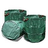 VINE RITUALS lot de 2 grands sacs poubelle pour déchets végétaux de 272litres...